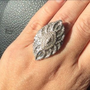 Jewelry - 2.5CT Diamond Ring in .925 Rare Queen Piece size7